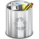 Status user trash full icon