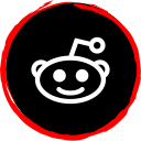 social, reddit, media, logo icon