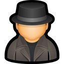 user, enforcer, law, police, detective icon
