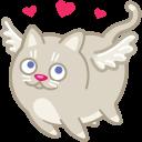 cat cupid love icon
