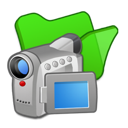 green, folder, videos icon
