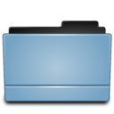 Folder blue (Leopard) icon
