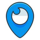 social, internet, media, online, network, location icon