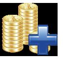 Add, Money, Plus, Positive icon