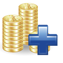 money, positive, plus, add icon