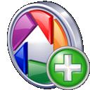 Add, Picasa icon