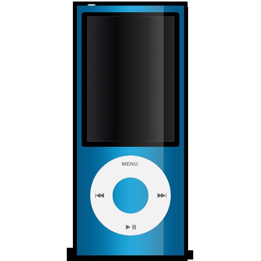 ipod, 5g, blue, nano icon