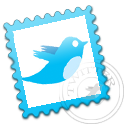 twitter,stamp,postage icon