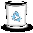 trashcan, empty, blank, alt icon