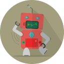 technology, android, fun robot, robotic, space, mascot, robot expression, robot, mechanical, metal icon