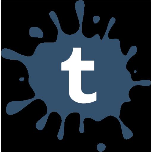 social, tumblr, set, media, blot icon