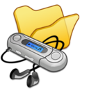 folder,yellow,mymusic icon