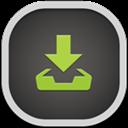 Downloads, Flat, Round icon