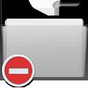 folder, private, graphite icon