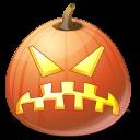 angry, pumpkin, jack o lantern, halloween icon