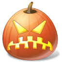 pumpkin, jack o lantern, halloween, angry icon