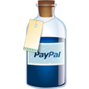 Bottle, Paypal icon