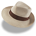 hat, linen, trilby icon