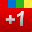 square, google, plus, google+, one, red, +1 icon