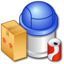 recycle, full, bin icon