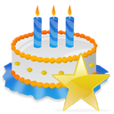 Birthday, Cake, Star icon