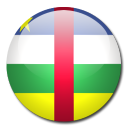 central, african, flag, republic, country icon