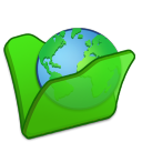 folder green internet icon