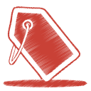 red tag icon
