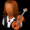Occupations Musician Female Dark icon