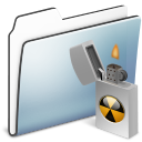 Alt, Burnable, Folder, Graphite, Sidebar, Smooth icon