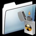 Alt, Burnable, Folder, Graphite, Smooth icon