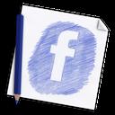 paper, hand-drawn, pencil, page, hand drawn, network, social, colour pencil, media, color pencil, facebook icon