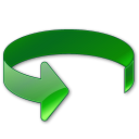green, rotate, anticlockwise icon