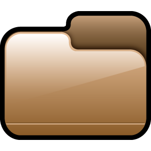 folder, closed, brown icon