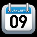 schedule, date, calendar, blue icon