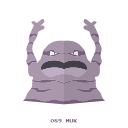 poison, pokemon, kanto, muk icon