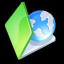 Folder, Green, Web icon