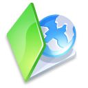 green, web, folder icon