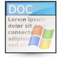Application, Msword icon