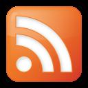 social rss box orange icon