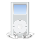 ipod, mini, mp3 player, gray icon