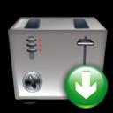 Down, Toaster icon