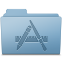 Applications Folder Blue icon