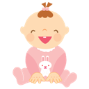 Baby, Girl, Laughing icon