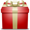 red,gift,box icon