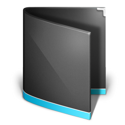 folder, generic, black icon