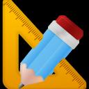 pen, ruler, pencil icon