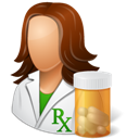 Female, Pharmacist icon