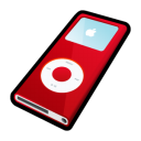 nano, red, mp3 player, ipod icon