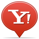 social, yahoo, balloon icon